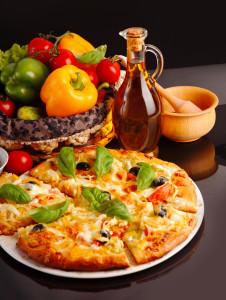 Bild: Pizza Vegetaria mit Käse